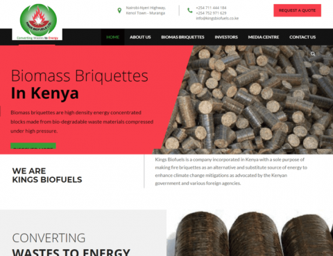 Featured image for Kings Biofuels Website Redesign